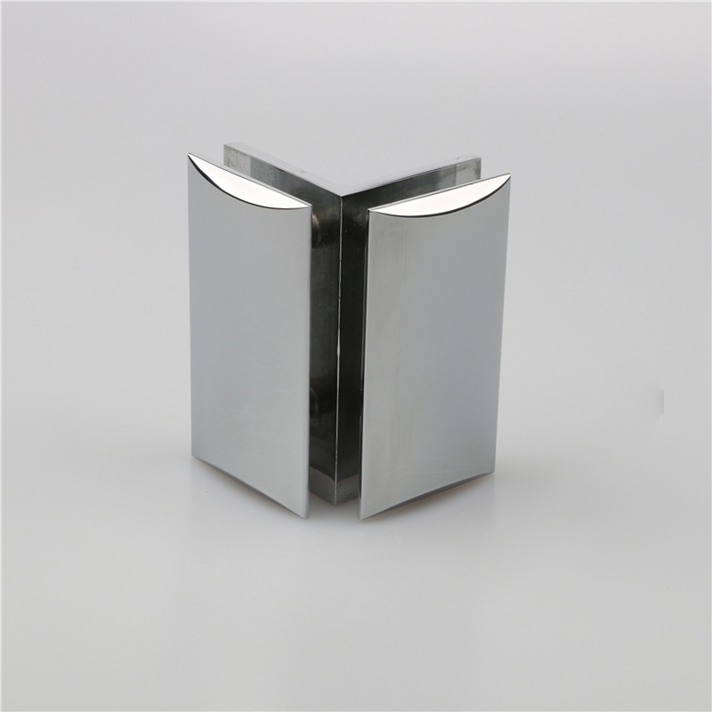 High quality precision casting building hardware stainless steel bathroom glass door clamp B4261