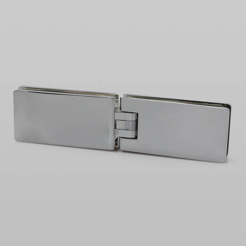 Brushed nickel 180 degree glass to glass hinge H2033