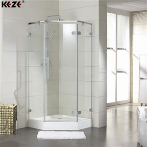 Frameless hinged shower enclosures KZ5191310 | Bathroom | KEZE
