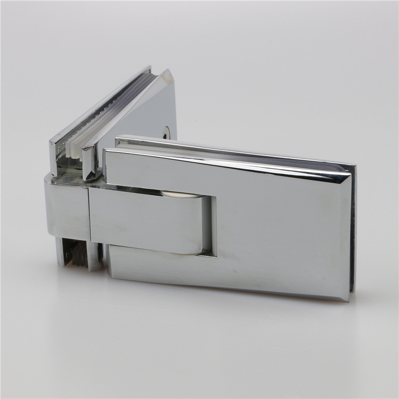 90 degree glass to glass bevelled edge hinge