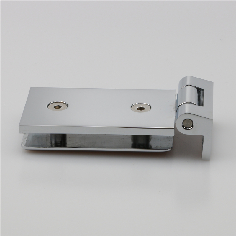 wall to glass inside flat open hinges of H622 series