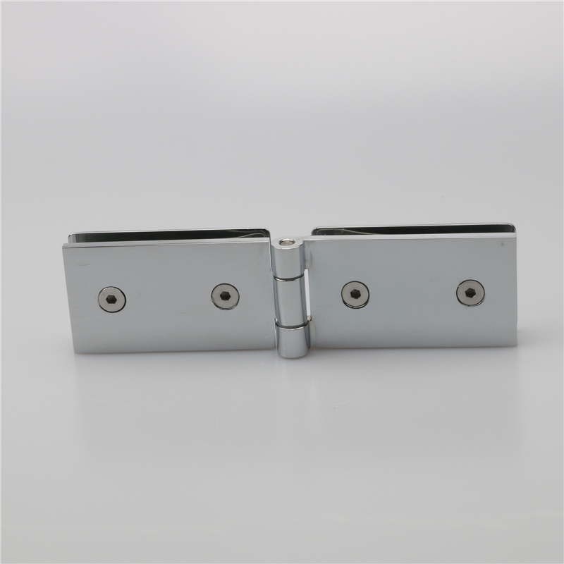 glass to glass inside flat open hinges of H622 series